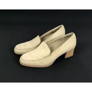 Aerosoles Leather Almond Toe Chunky Block Heel